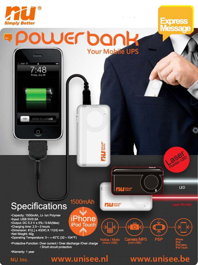 Powerbank specificaties